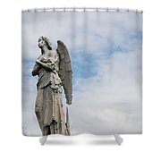 Lonely Angel Shower Curtain by Jennifer Ancker