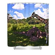 Long Neck Shower Curtain by Ryan Crane
