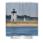 Long Point Light Shower Curtain by Bill  Wakeley