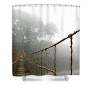 Long Rope Bridge Shower Curtain by Skip Nall