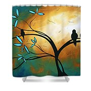 Longing By Madart Shower Curtain by Megan Duncanson