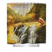 Longing Shower Curtain by Mo T