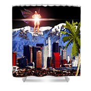 Los Angeles  Shower Curtain by Daniel Janda