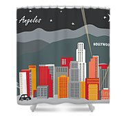 Los Angeles Shower Curtain by Karen Young