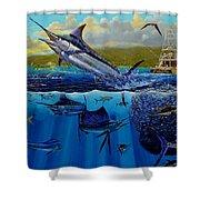 Los Suenos Shower Curtain by Carey Chen