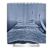 Lost At Sea Shower Curtain by Dan Sproul