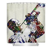Louie Armstrong 2 Shower Curtain by Jack Zulli