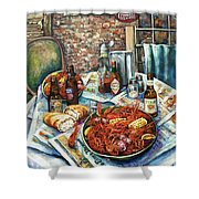 Louisiana Saturday Night Shower Curtain by Dianne Parks