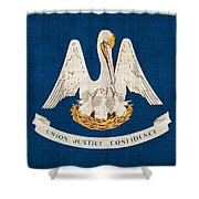 Louisiana State Flag Shower Curtain by Pixel Chimp