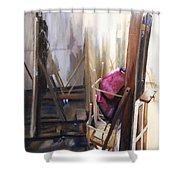Louvre Closet Shower Curtain by Shelley Irish