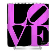 Love 20130707 Violet Black Shower Curtain by Wingsdomain Art and Photography