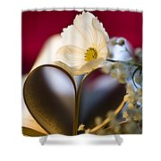 Love Is All Around Shower Curtain by Jan Bickerton