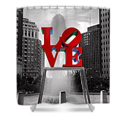 Love Isn't Always Black And White Shower Curtain by Paul Ward