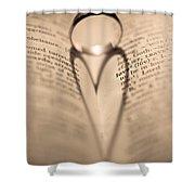 Love Shower Curtain by Jan Bickerton