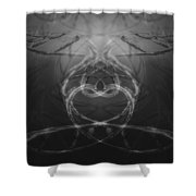 Love Life And Science Shower Curtain by Dan Sproul