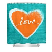 Love Shower Curtain by Linda Woods