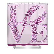 Love Quatro - Heart - S44b Shower Curtain by Variance Collections