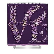 Love Quatro - Heart - S77a Shower Curtain by Variance Collections