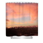 Love Sunset Shower Curtain by Augusta Stylianou