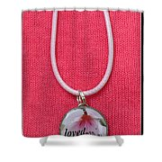 Loved With An Everlasting Love Pendant Shower Curtain by Carla Parris