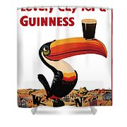Lovely Day For A Guinness Shower Curtain by Nomad Art And  Design