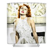 Lovely Rita Shower Curtain by Mo T