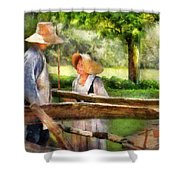 Lover - The Courtship Shower Curtain by Mike Savad