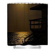 Lovers Moon Shower Curtain by Rene Triay Photography