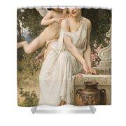 Loves Whisper Shower Curtain by Charles Lenoir