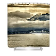 Low Clouds - Half Speed Shower Curtain by Jon Berghoff