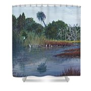 Low Country Social Shower Curtain by Ben Kiger