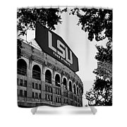 Lsu Through The Oaks Shower Curtain by Scott Pellegrin