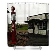 Lubrication Center Hardin Montana Shower Curtain by Jeff Swan