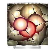 Luminous Orbs Shower Curtain by Anastasiya Malakhova