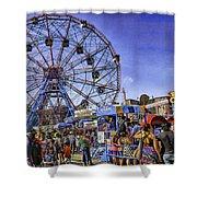 Luna Park 2013 - Coney Island - Brooklyn - New York Shower Curtain by Madeline Ellis
