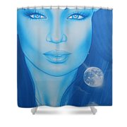 'lunarium' Shower Curtain by Christian Chapman Art