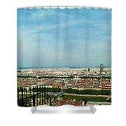 Lyon From The Basilique de Fourviere-color Shower Curtain by Paulette B Wright