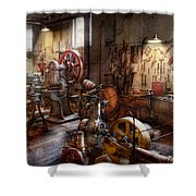 Machinist - A Room Full Of Memories  Shower Curtain by Mike Savad