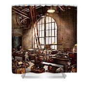 Machinist - I Like Big Tools Shower Curtain by Mike Savad