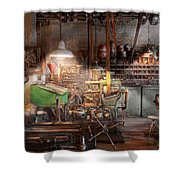 Machinist - It all starts with a Journeyman  Shower Curtain by Mike Savad
