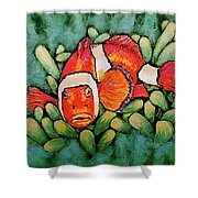 Mad Clown Shower Curtain by Linda Simon