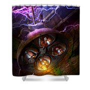Mad Scientist - Your Operation Was A Success Shower Curtain by Mike Savad