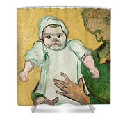 Madame Roulin And Her Baby Shower Curtain by Vincent Van Gogh