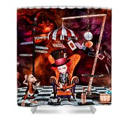 Madness In The Hatter's Realm Shower Curtain by Putterhug  Studio