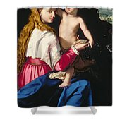 Madonna and Child Shower Curtain by Alessandro Allori