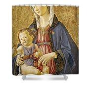 Madonna And Child Shower Curtain by Domenico Bigordi Domenico Ghirlandaio