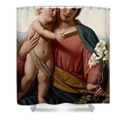 Madonna and Child Shower Curtain by Franz Ittenbach
