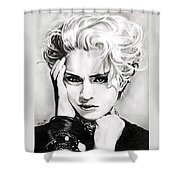 Madonna Shower Curtain by Fred Larucci