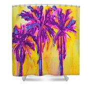Magenta Palm Trees Shower Curtain by Patricia Awapara