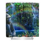 Magic Jungle Shower Curtain by Alixandra Mullins